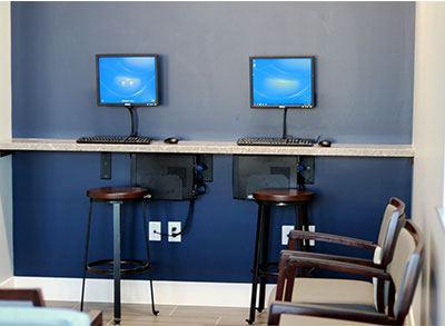 Waiting Room Computer Bar